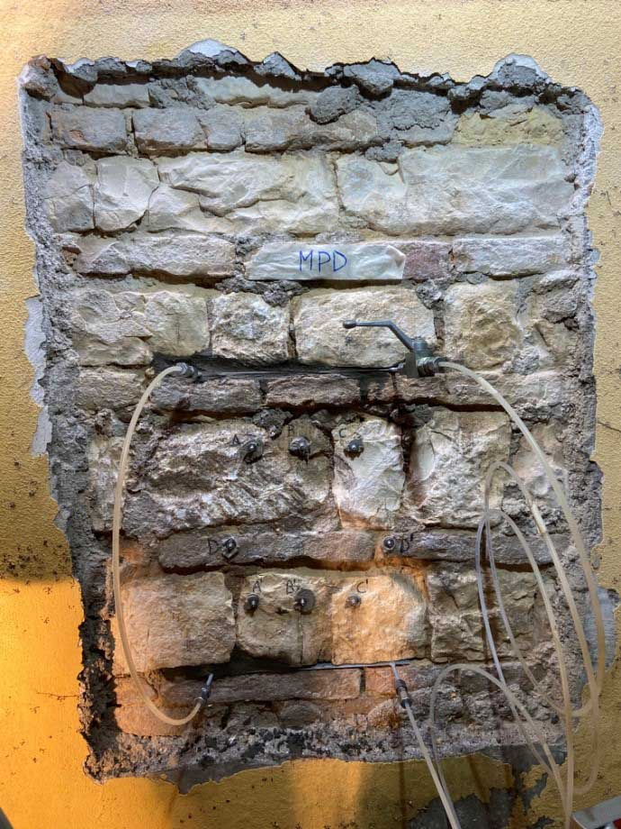 martinetti piatti prova sulle murature